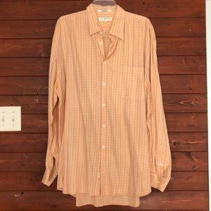 Joseph Abboud Grid Checkered Dress Shirt size XL